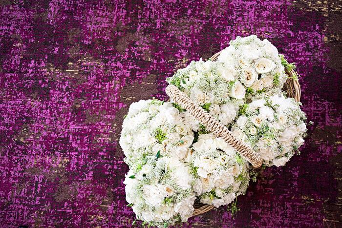 Wedding entourage flower arrangements