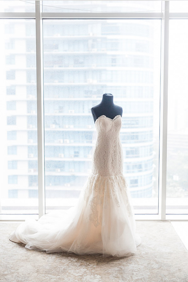 Wedding gown made by Hannah Kong